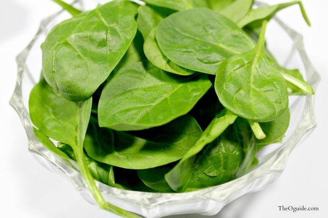 spinach, pesto