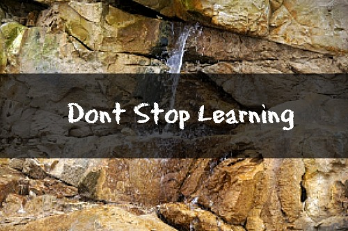 Dont stop learning