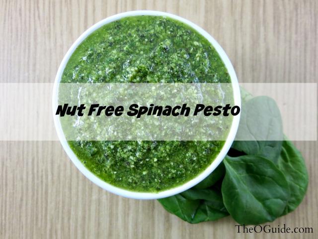 Spinach Pesto, Nut free pesto, Spinach, Basil, Pesto