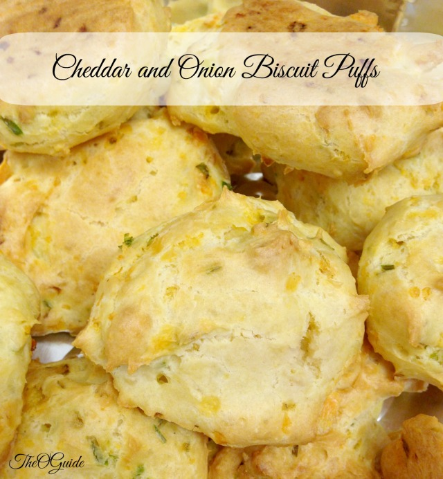 Cheddar and Onion Biscuit Puffs