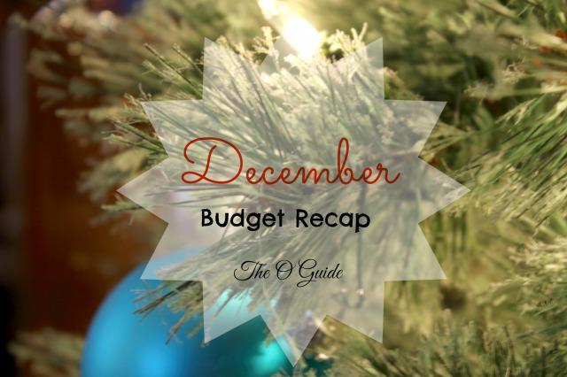 December Budget Recap 2014