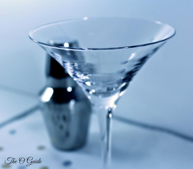 Midnite Berry Martini glass