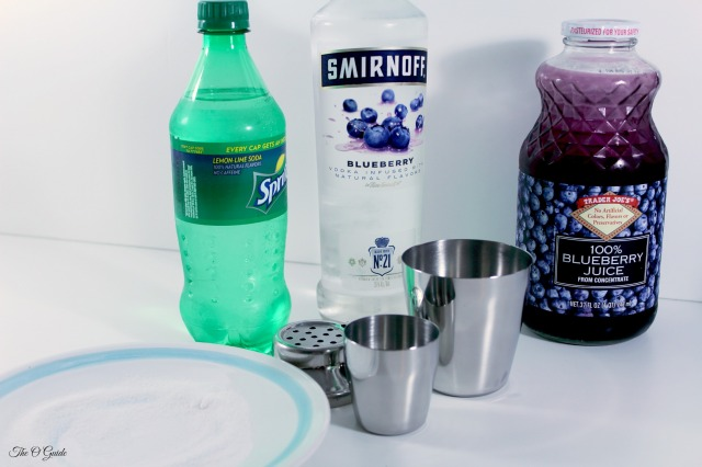 Midnite Berry Martini ingredients