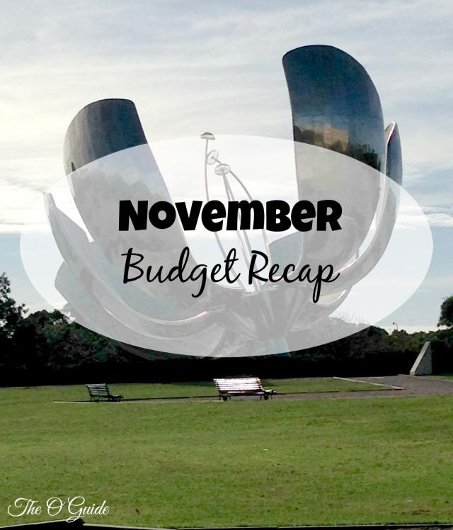 November, Budget, Recap