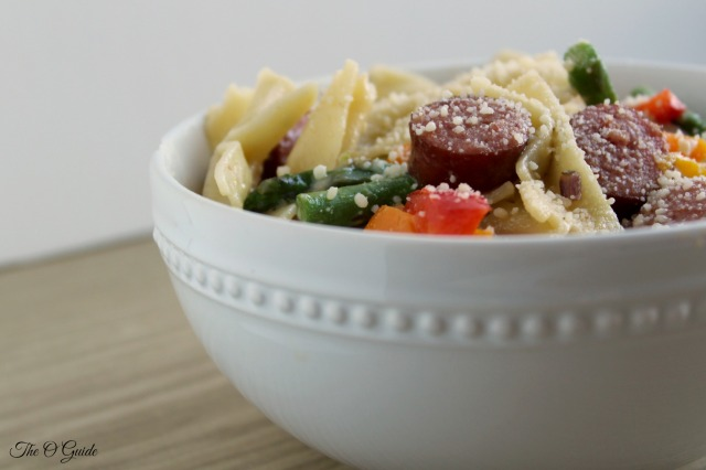 Peppers and Sausage Pasta